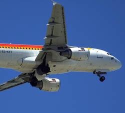 Llegar en Avion a Madrid