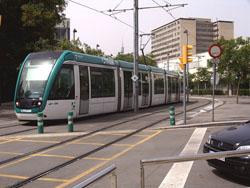 Moverse en Tren o Tranvia por Barcelona