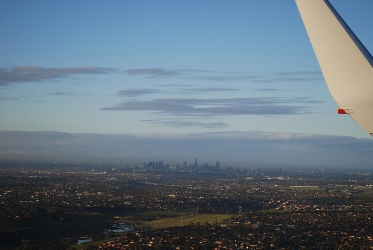 Llegar en avión a Melbourne