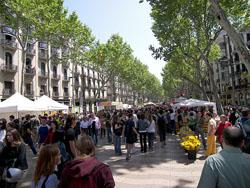 Las Ramblas y el Barrio Gotico de Barcelona