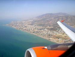 Llegar en avión a Málaga
