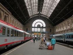 Llegar en Tren a Budapest