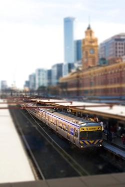 Llegar en tren a Melbourne