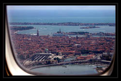 Llegar en Avion a Venecia