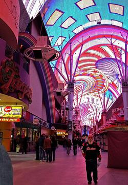 Fremont Street o el Dowtown de las Vegas