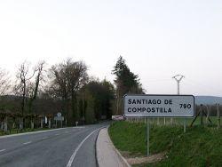 Llegar por carretera a Santiago de Compostela