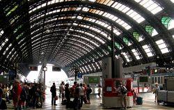 Llegar en tren a Milán