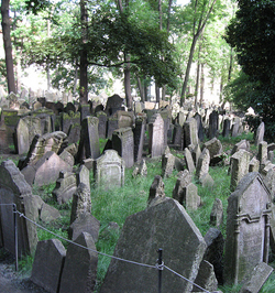 Antiguo cementerio judio de Praga