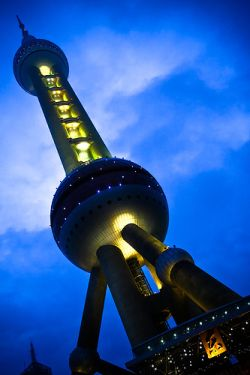 La Perla de Oriente de Shanghai
