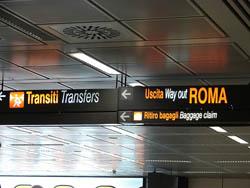 Llegar del Aeropuerto Fiumicino a Roma