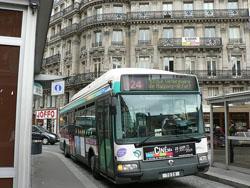 Moverse en Autobus o Taxi por Paris