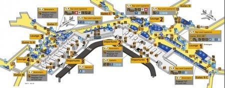 Plano del Aeropuerto de Schiphol